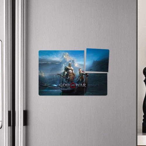 Магнитный плакат 3Х2 God of War Фото 01