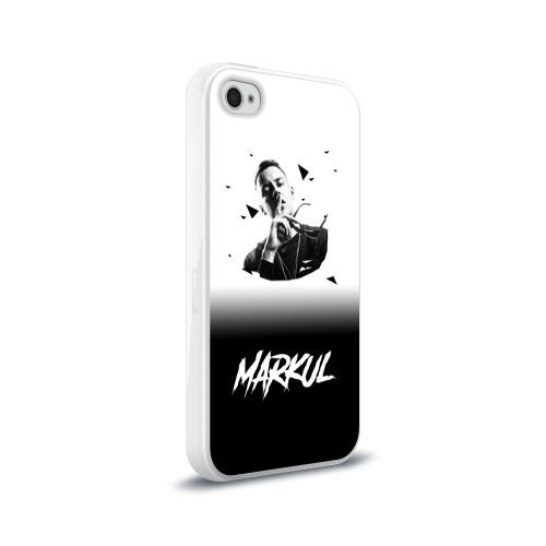 Чехол для Apple iPhone 4/4S силиконовый глянцевый  Фото 02,  Markul
