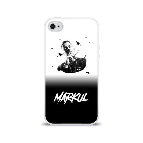 Чехол для Apple iPhone 4/4S силиконовый глянцевый  Фото 01,  Markul