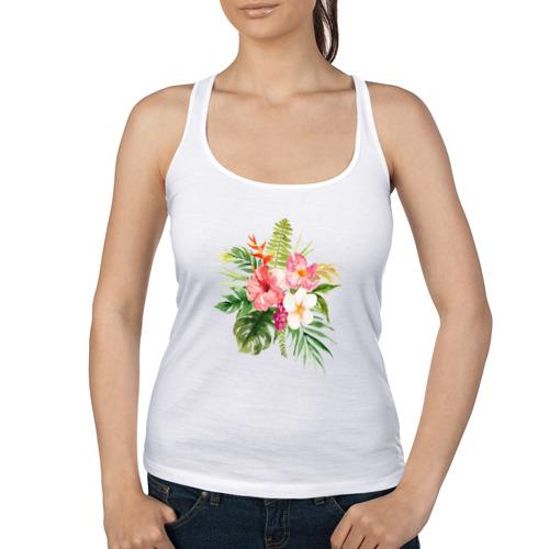 Женская майка борцовка  Фото 01, Букет цветов