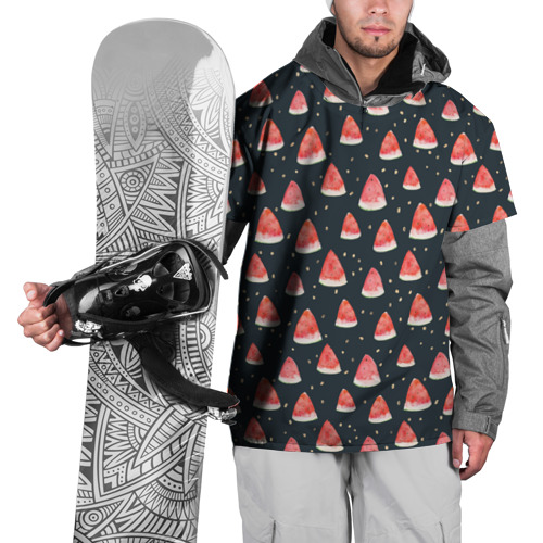 Накидка на куртку 3D  Фото 01, Tropical melon dark