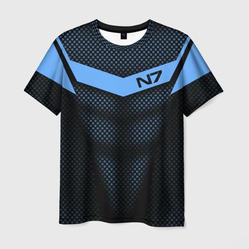 Мужская футболка 3D Mass Effect N7