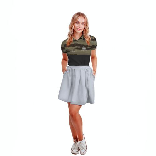 Женская рубашка поло 3D  Фото 04, Камуфляж МЧС РФ