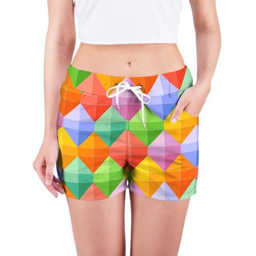Женские шорты 3D  Фото 03, Ромбы