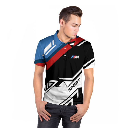 Мужская рубашка поло 3D  Фото 05, BMW M SPORT