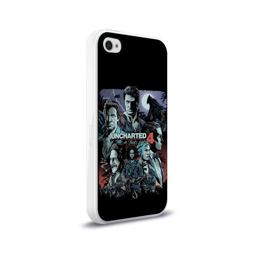 Чехол для Apple iPhone 4/4S силиконовый глянцевый  Фото 02, Uncharted 4
