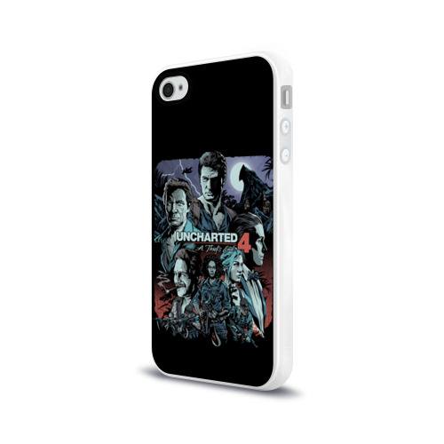 Чехол для Apple iPhone 4/4S силиконовый глянцевый  Фото 03, Uncharted 4