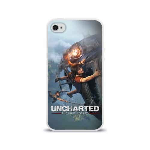 Чехол для Apple iPhone 4/4S силиконовый глянцевый  Фото 01, Uncharted
