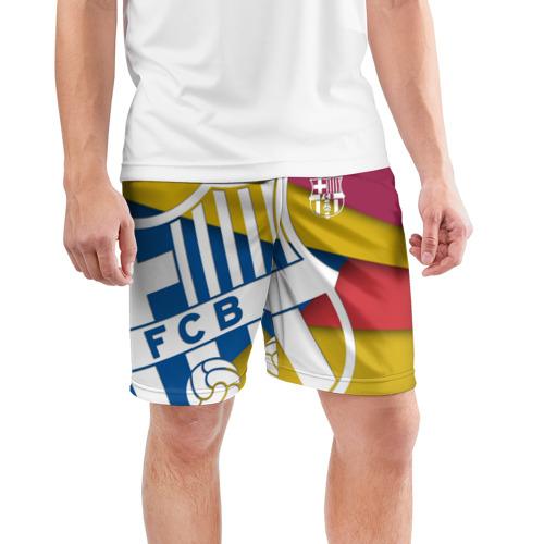 Мужские шорты 3D спортивные  Фото 03, Барса новая