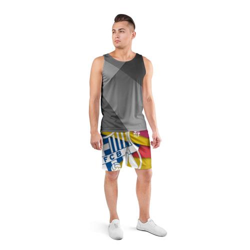Мужские шорты 3D спортивные  Фото 04, Барса новая