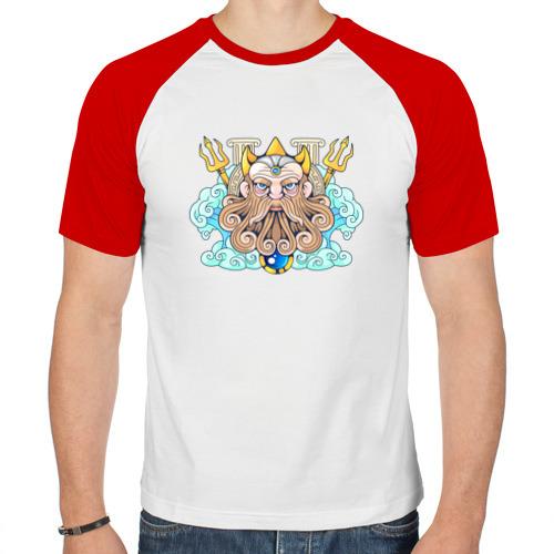 Мужская футболка реглан  Фото 01, Нептун