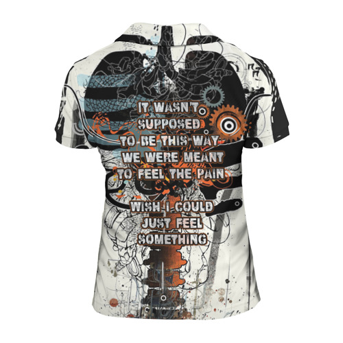 Женская рубашка поло 3D  Фото 02, I am machine
