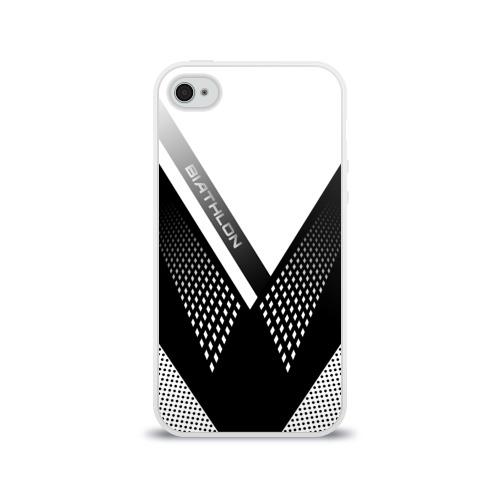 Чехол для Apple iPhone 4/4S силиконовый глянцевый Биатлон Фото 01