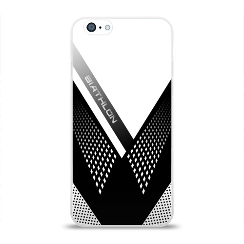 Чехол для Apple iPhone 6 силиконовый глянцевый Биатлон Фото 01