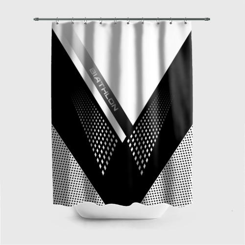 Штора 3D для ванной Биатлон Фото 01
