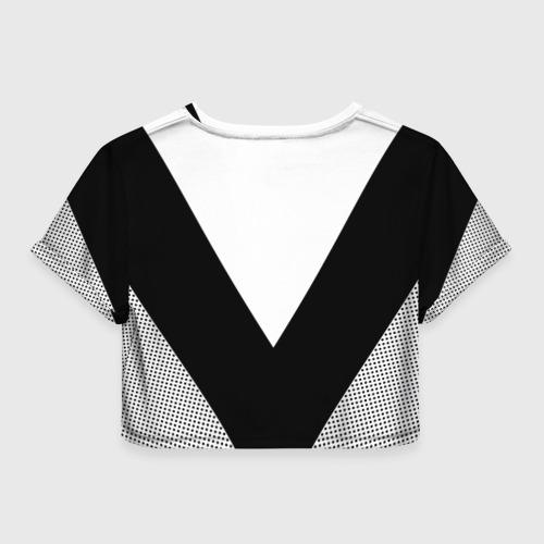 Женская футболка Crop-top 3D Биатлон Фото 01