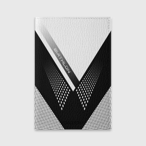Обложка для паспорта матовая кожа Биатлон Фото 01