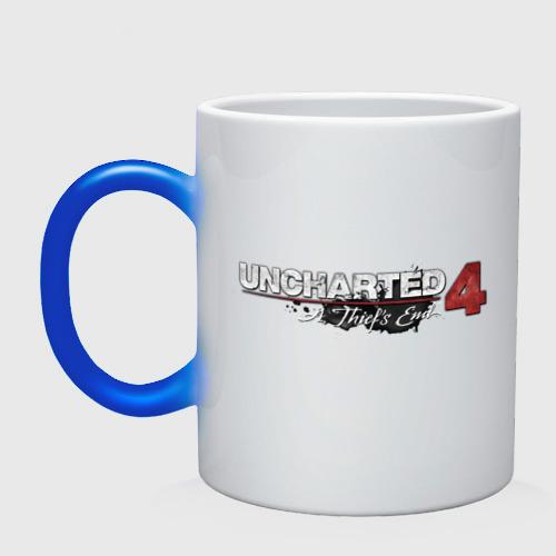 Кружка хамелеон Uncharted logo  Фото 01