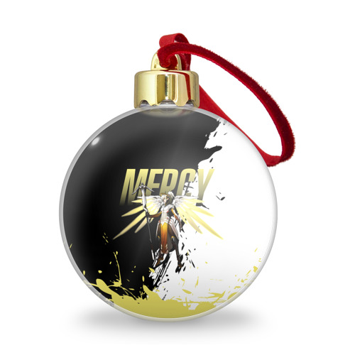 Ёлочный шар с блестками  Фото 01, Overwatch Mercy