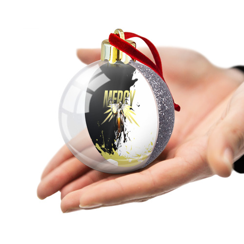 Ёлочный шар с блестками  Фото 03, Overwatch Mercy