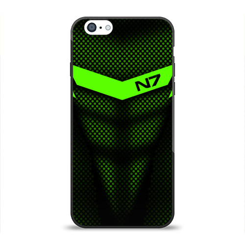 Чехол для Apple iPhone 6 силиконовый глянцевый Mass Effect N7 Фото 01