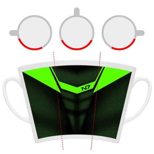 Кружка Латте Mass Effect N7 Фото 01