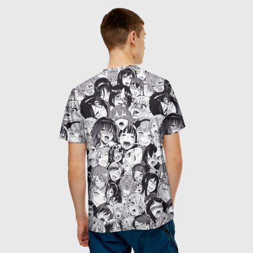 Мужская футболка 3D Ахегао Фото 01