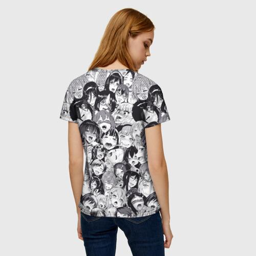 Женская футболка 3D Ахегао Фото 01