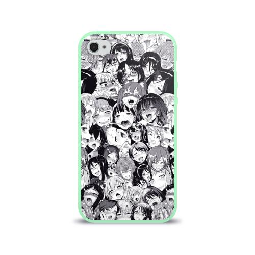 Чехол для Apple iPhone 4/4S силиконовый глянцевый Ахегао Фото 01