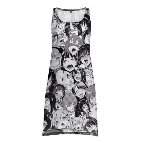 Платье-майка 3D Ахегао
