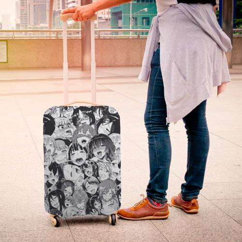 Чехол для чемодана 3D Ахегао Фото 01