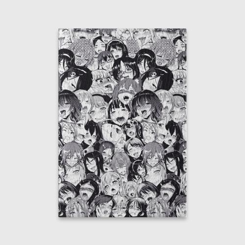 Обложка для паспорта матовая кожа Ахегао Фото 01