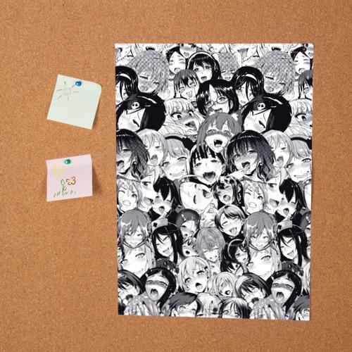 Постер Ахегао Фото 01