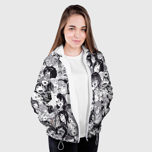 Женская куртка 3D Ахегао Фото 01