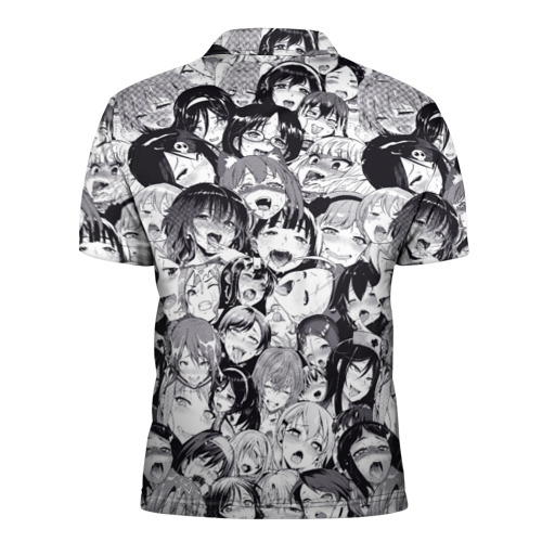 Мужская рубашка поло 3D Ахегао Фото 01