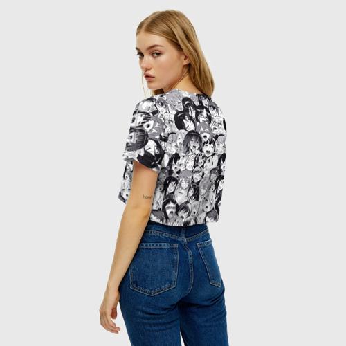 Женская футболка Cropp-top Ахегао Фото 01