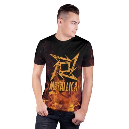 Мужская футболка 3D спортивная  Фото 03, Metallica