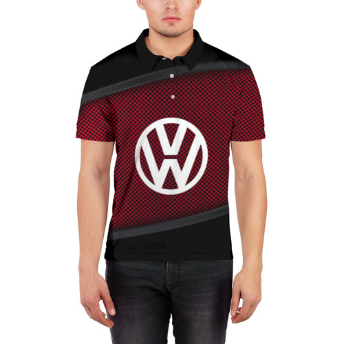 Мужская рубашка поло 3D VOLKSWAGEN SPORT Фото 01