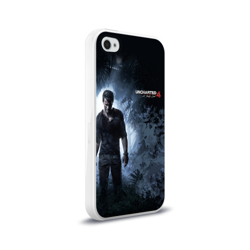 Чехол для Apple iPhone 4/4S силиконовый глянцевый  Фото 02, Drake in jungle