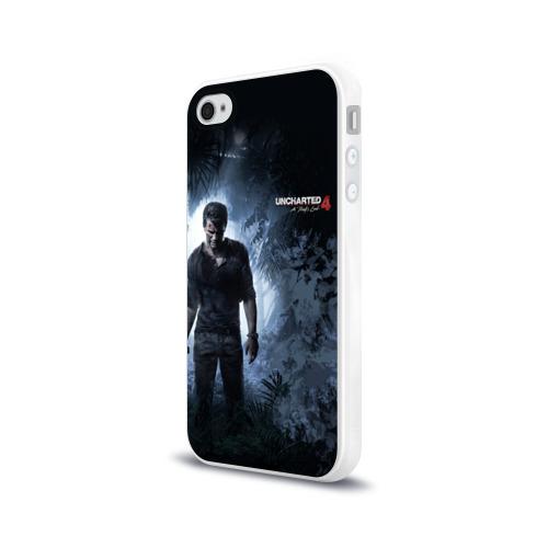 Чехол для Apple iPhone 4/4S силиконовый глянцевый  Фото 03, Drake in jungle
