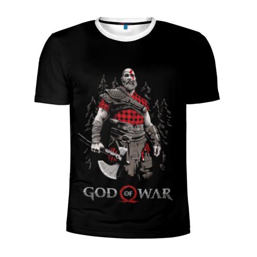 Мужская футболка 3D спортивная  Фото 01, Кратос - дровосек
