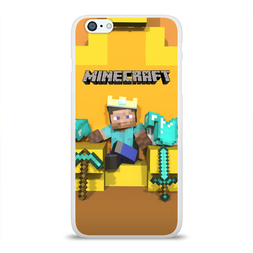 Чехол для iPhone 6/6S Plus глянцевый Король майнкрафта 2 Фото 01