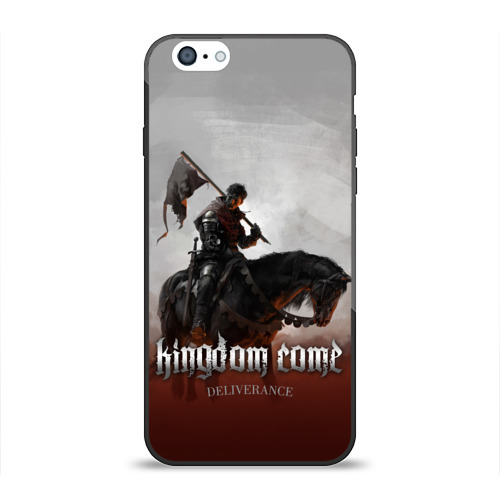 Чехол для Apple iPhone 6 силиконовый глянцевый Рыцарь на коне Фото 01