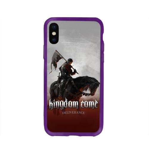 Чехол для Apple iPhone X силиконовый глянцевый Рыцарь на коне Фото 01