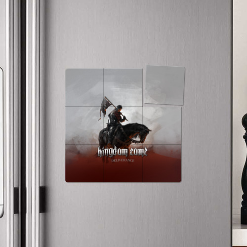 Магнитный плакат 3Х3 Рыцарь на коне Фото 01