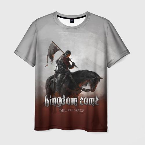 Мужская футболка 3D  Фото 03, Рыцарь на коне