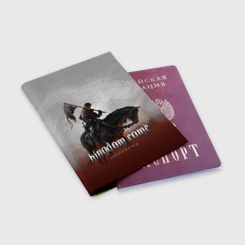 Обложка для паспорта матовая кожа Рыцарь на коне Фото 01