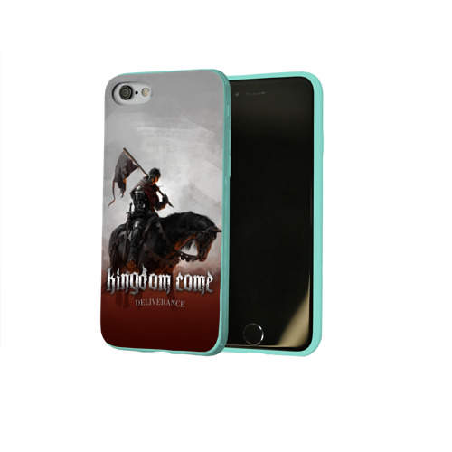 Чехол для Apple iPhone 8 силиконовый глянцевый Рыцарь на коне Фото 01
