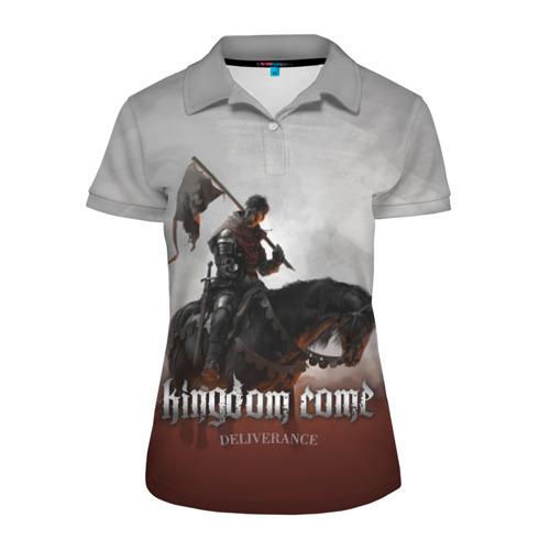Женская рубашка поло 3D Рыцарь на коне Фото 01
