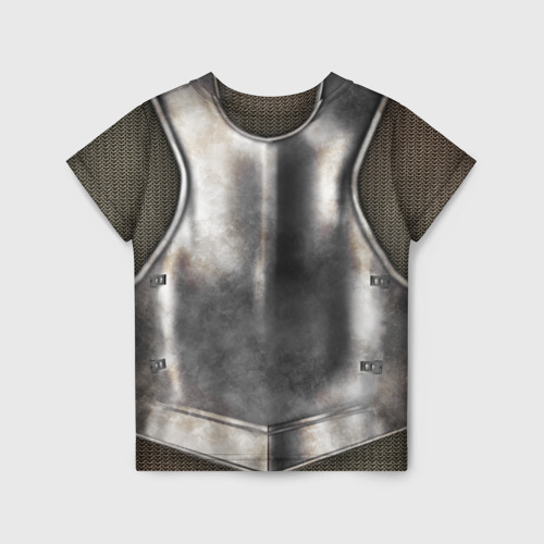 Детская футболка 3D Доспех рыцаря Фото 01